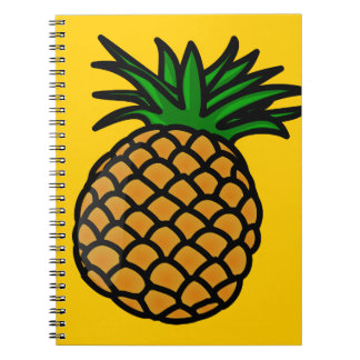 apple-25251 CARTOON PINEAPPLE YUMMY DELICIOUS FRUI Notebook