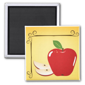 Apple 2 Inch Square Magnet