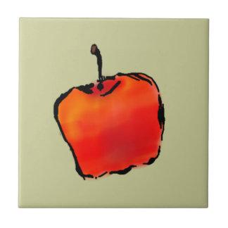 Apple 2 of 5 ceramic tile 4 inch