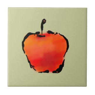 Apple 3 of 5 ceramic tile 4 inch