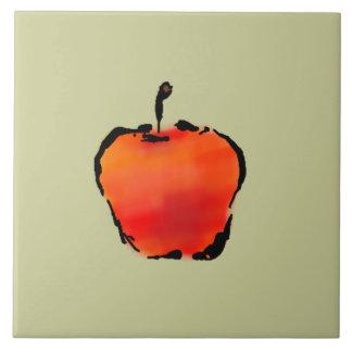 Apple 3 of 5 ceramic tile 6 inch