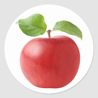 Apple #4 pegatina redonda