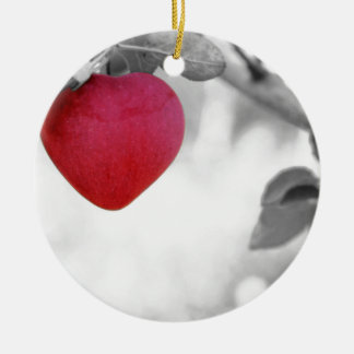 apple-57-eop adorno navideño redondo de cerámica