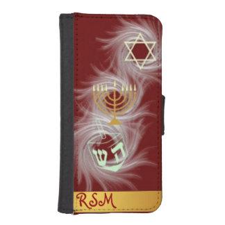 Apple 5/5s Jewish holidays monogrammed iPhone 5 Wallet