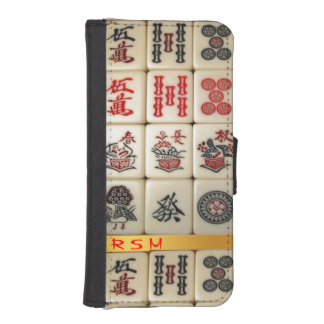 Apple 5/5s Mahjong monogrammed iPhone SE/5/5s Wallet