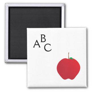 Apple, A, B, C Magnet