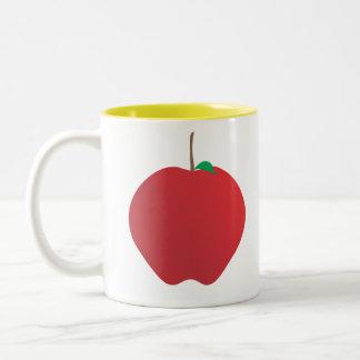 Apple, A, B, taza de café de C
