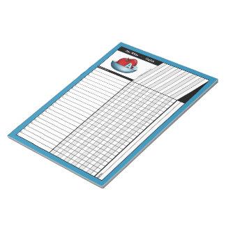 Apple A+ Blue Teachers' Grade Sheets Notepad