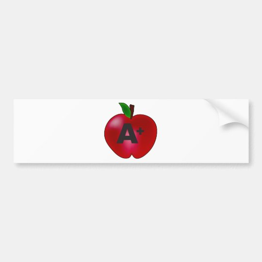 Apple A+ Bumper Sticker