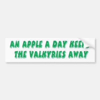 Apple a Day Bumper Sticker