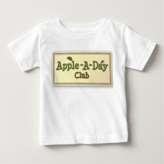 Apple - A- Day- Club  Patch Baby T-Shirt