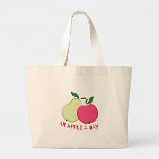 Apple A Day Large Tote Bag