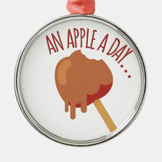 Apple A Day Metal Ornament