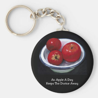 APPLE A DAY: OIL PASTEL: REALISM PAINTING KEYCHAIN