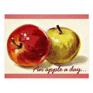 Apple a Day Postcard