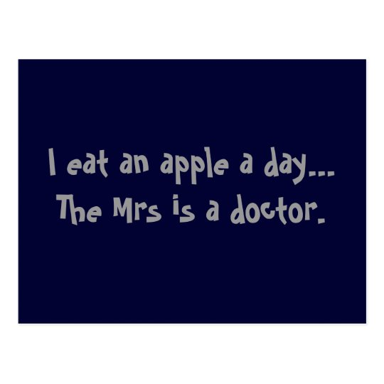 Apple a Day Postcard - Funny Joke for Men