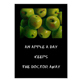 APPLE A DAY POSTER (ART)