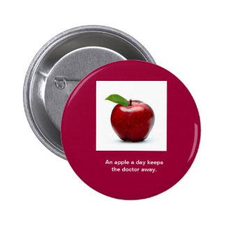 Apple a Day Round Button