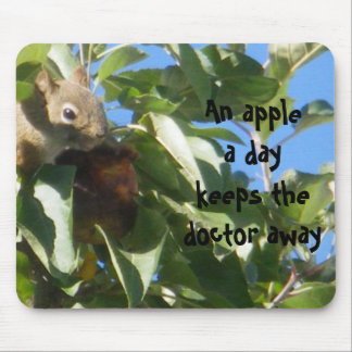 Apple A Day Squirrel Mouse Pad