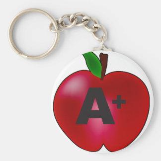 Apple A+ Basic Round Button Keychain