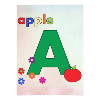 Apple A Letter A Card