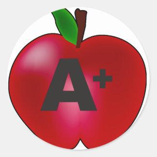Apple A+ Pegatina Redonda