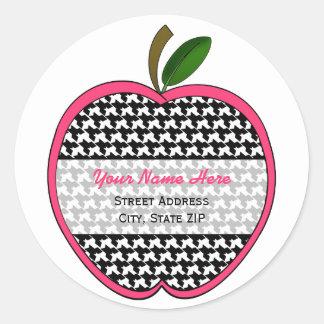 Apple Address Label - Houndstooth