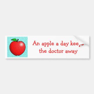 Apple al día guarda al doctor Away Pegatina Para Auto