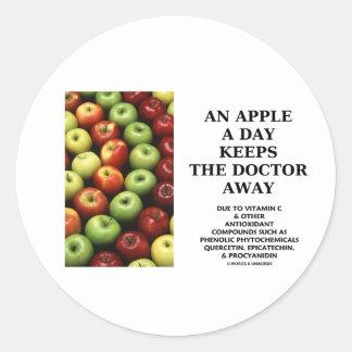 Apple al día guarda al doctor Away (el consejo de Pegatina Redonda