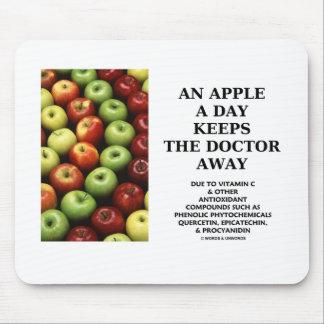 Apple al día guarda al doctor Away (el consejo de  Alfombrilla De Raton