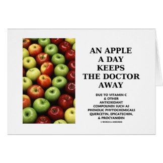 Apple al día guarda al doctor Away (el consejo de  Tarjeta