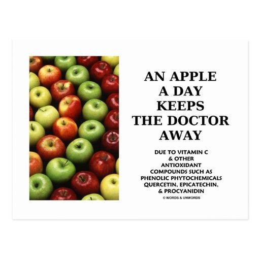 Apple al día guarda al doctor Away (el consejo de Tarjeta Postal