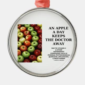 Apple al día guarda al doctor Away (el humor de la Adorno Redondo Plateado