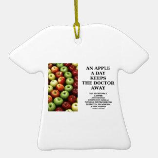 Apple al día guarda al doctor Away (el humor de la Adorno De Cerámica En Forma De Camiseta