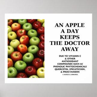 Apple al día guarda al doctor Away (el humor de la Poster