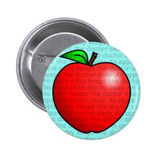 Apple al día guarda al doctor Away Pin Redondo 5 Cm
