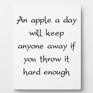 Apple al día mantendrá cada uno ausente placas