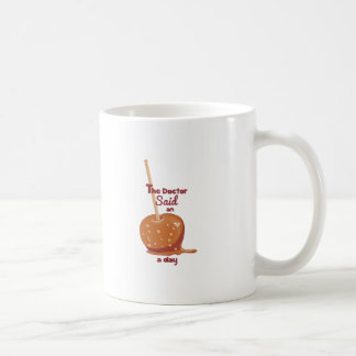 Apple al día taza básica blanca