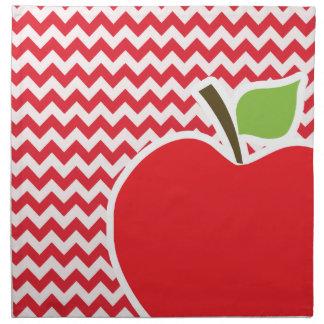 Apple; Alizarin Crimson Chevron Napkin