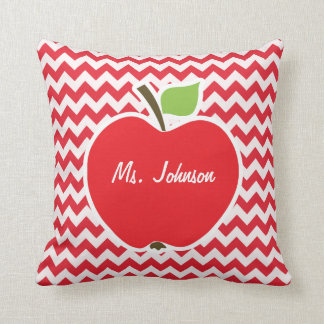 Apple Alizarin Crimson Chevron Throw Pillows