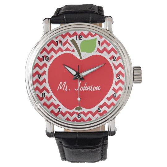 Apple; Alizarin Crimson Chevron Wrist Watch
