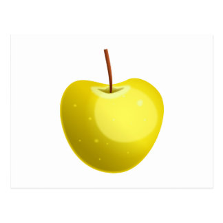 Apple amarillo tarjeta postal