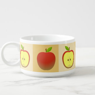 Apple and a Half pattern Bowl