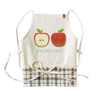 Apple and a Half Zazzle HEART Apron
