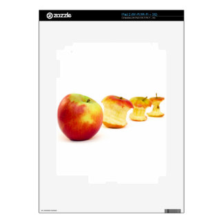 Apple and apple cores isolated on white decal for the iPad 2