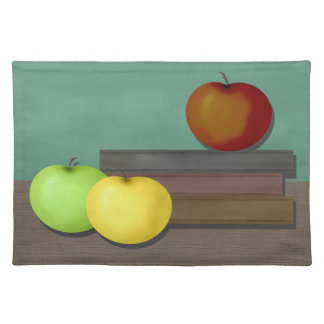 Apple and Books Placemats