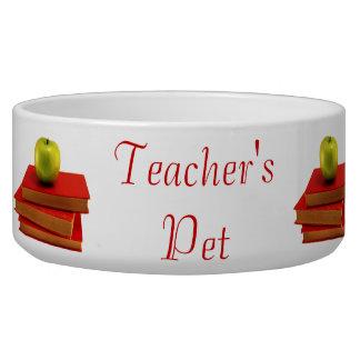 Apple and Books Teacher's Pet Bowl