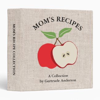 Apple and Burlap Mom's Recipes Binder