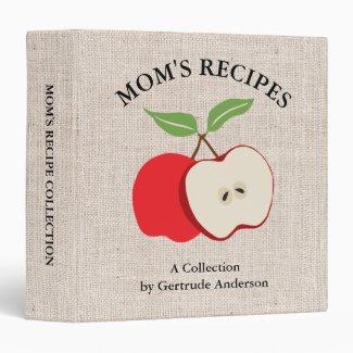 Apple and Burlap Mom's Recipes Binder