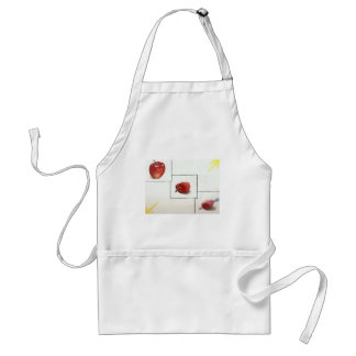 Apple and Hearts Transformation Adult Apron